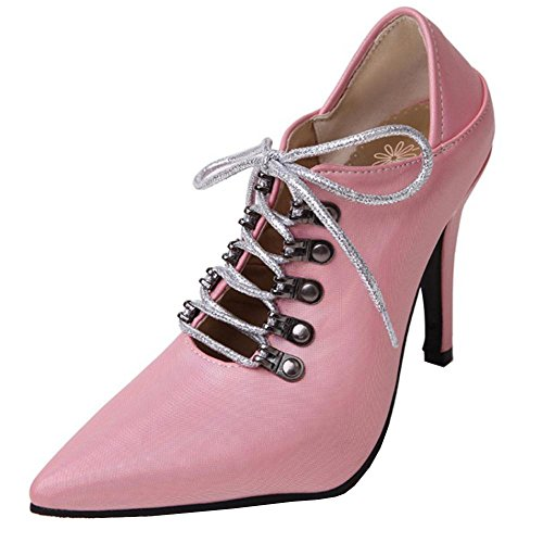 Pumps Stiletto Pink Women TAOFFEN Summer wqUBTCf