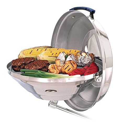Magma Products, A10-114 Marine Kettle Charcoal Grill w / Hinged Lid, Party Size (Pellets 177 Light)