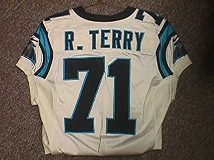 2bf225a16 Image Unavailable. Image not available for. Color  Rick Terry Carolina  Panthers 1999 Road Game Worn Jersey