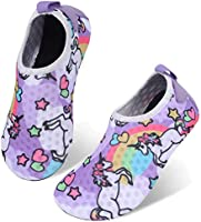 JIASUQI Kids Boys Girls Summer Athletic Water Shoes Barefoot Aqua Socks for Beach Swimming Pool
