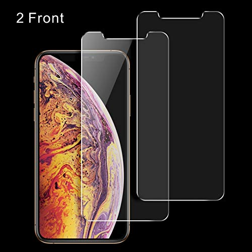 iPhone X Screen Protector Glass, Singularity Products [3D Touch] [Anti-Scratch] [Anti- Fingerprint] iPhone X Tempered Glass Screen Protector for iPhoneX /10 - 2 Pack -Clear