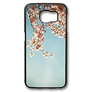 Brian114 Samsung Galaxy S6 Case, S6 Case - Perfect Fit Black Hard Back Case Cover for Samsung Galaxy S6 Blossom Tree Edge Case Impact Protection for Samsung Galaxy S6