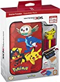 Nintendo 3DS Pokemon Sun & Moon Starter Kit with Pokemon Group and Pikachu Stylus for Nintendo 3DSXL