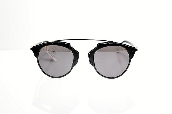 831e93fba3459 Amazon.com  Dior SO REAL Sunglasses PALLADIUM MIRROR Black Rihanna + Olivia  Palermo  Clothing