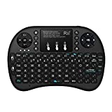 Rii i8+ 2.4GHz Mini Wireless Keyboard with Touchpad Mouse,LED Backlit,Rechargable Li-ion Battery (Updated 2017,Backlit)