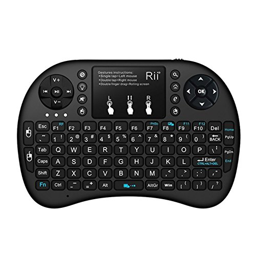 Rii-i8-24GHz-Mini-Wireless-Keyboard-with-Touchpad-MouseLED-BacklitRechargable-Li-ion-Battery-Updated-2017Backlit