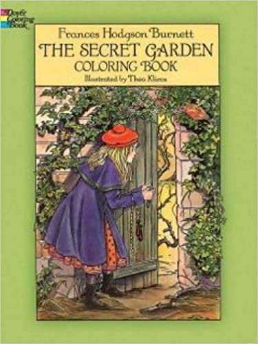 The Secret Garden Coloring Book Colouring Amazoncouk Frances Hodgson Burnett Thea Kliros Books