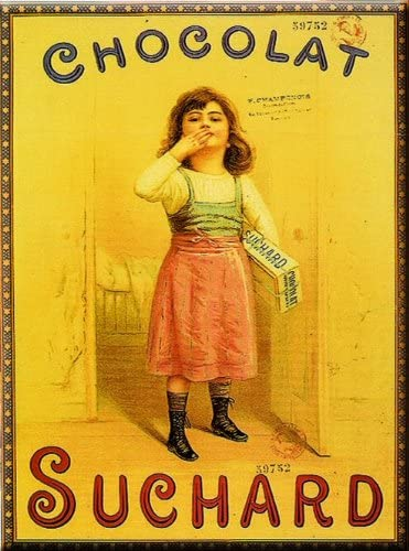 Affiches 50x70cm Publicite Retro Chocolat Suchard Fille Amazon Fr