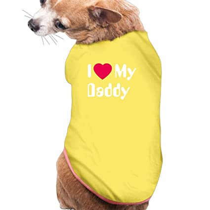 ca50d2168487 I Love My Dad Dog Shirt Clothes for Pet Puppy Tee Shirts Dogs Costumes Cat  Tank Top Vest L Yellow: Amazon.ca: Home & Kitchen