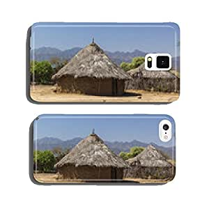 Traditional tsemay houses. Weita. Omo Valley. Ethiopia. cell phone cover case Samsung S6