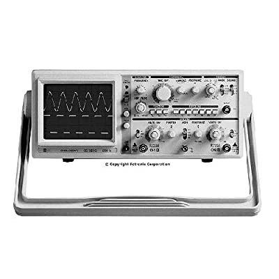 EZ Digital OS-5020G Oscilloscope with Built-In 1MHz Function Generator, without Probe, 20MHz, 2-Channel, Dual Trace