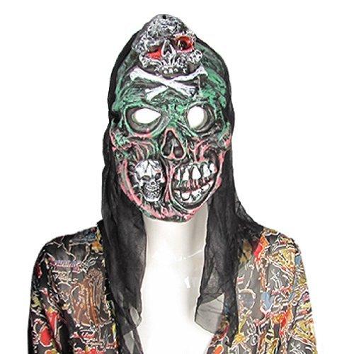eDealMax Amico de la frente del cráneo de Halloween Dientes Grandes Horrible máscara de sonido]()