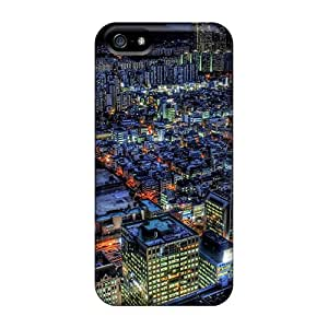 Top Quality Rugged Night City View Cases Covers For Iphone 5/5s