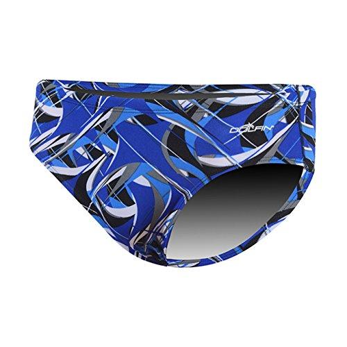 Dolfin Men's Predator Racer Swimsuit Blue Predator Size 32