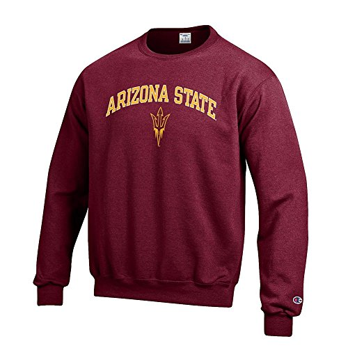 (Elite Fan Shop Arizona State Sun Devils Crewneck Sweatshirt Varsity Maroon - L)