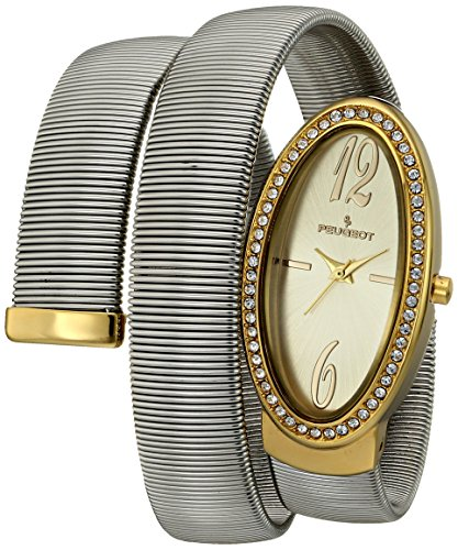 Peugeot Women's 7088TT Analog Display Japanese Quartz Two Tone Watch