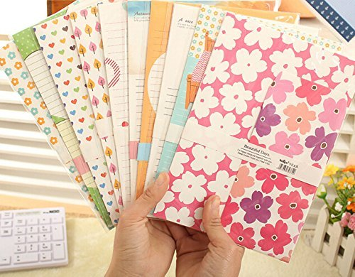 SCStyle 30 Cute Kawaii Lovely Colorful Design Writing Stationery Paper Letter Set with 15 Envelope (G1)