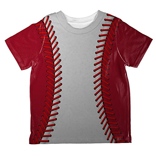 Baseball League White and Red All Over Toddler T Shirt Multi 6T