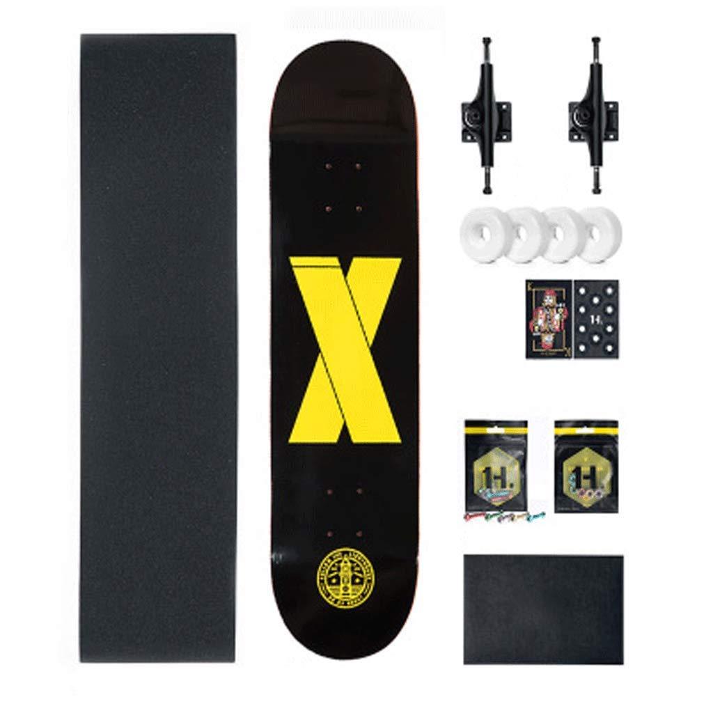 新品同様 ストリートスキル4輪ロードバイラテラルティルトプロスケートボードスケートボード初心者大人の子供の男の子と女の子 (色 X-black B07KYK2K2C : X-black) B07KYK2K2C : X-black, フクドミマチ:3cc05cf5 --- a0267596.xsph.ru