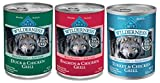 Blue Buffalo Wilderness Grain Free Wet Adult Dog Food Variety Pack - 3 Flavors - 12.5-Ounces Each by Blue Buffalo