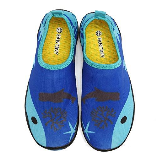 Big Kid blue Athletic Toddler Lightweight on Little Water amp; Slip Walking 1 Comfort CIOR Shoes Boys Sole Sock Kid Fantiny Easy Aqua Girls wnRxqCFHfB