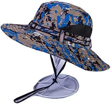 15779c74 AOBRITON Tactical Army Camouflage Bucket Hat Wide-Brim Boonie Hat  Breathable Waterproof