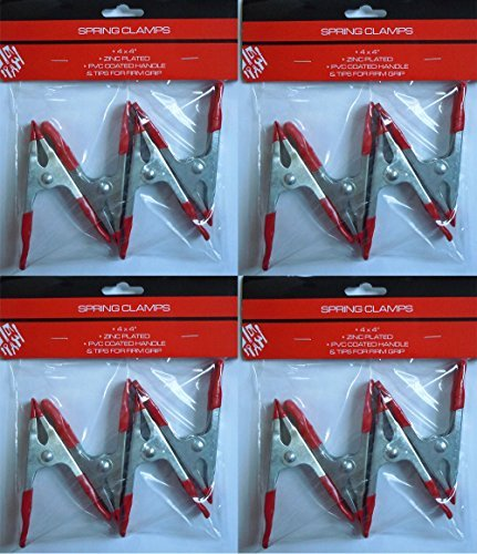 4'' Zinc Plated, PVC Coated Spring Clamps (16 Pack)