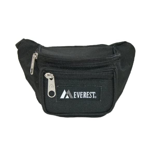 Everest Signature Waist Pack - Junior, Black, One Size 1 Our waist pack line has always been one of the original leaders in waist pack styles, and we are continuing that tradition with our junior waist pack line. The pack's compact size makes it perfect for kids and youths.