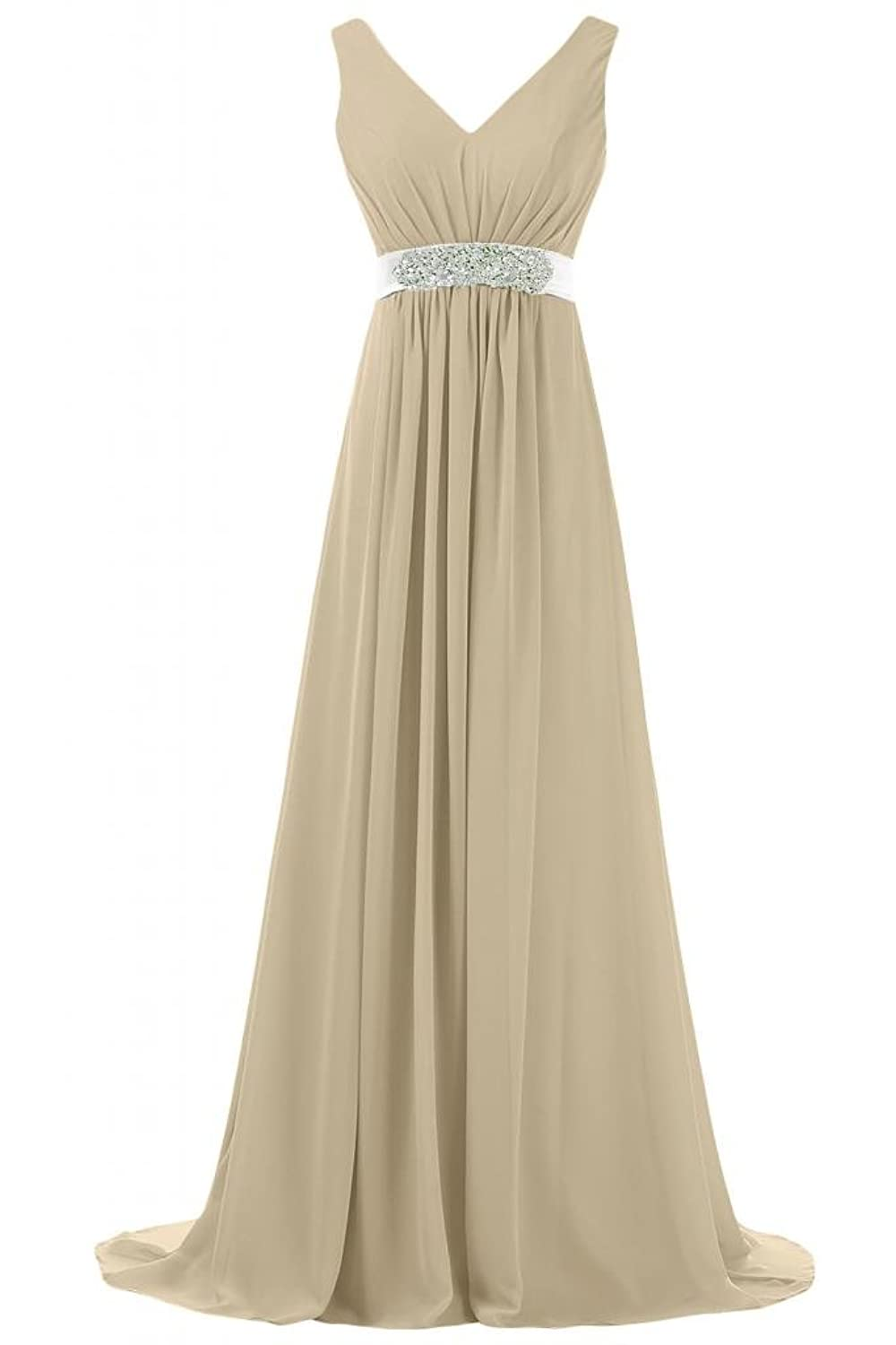 Sunvary Elegant V-neck Prom Dress Pageant Gowns Maxi Evening Dresses for Mother