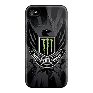 New Style L.M.CASE Monster Army Premium Tpu Cover Case For Iphone 4/4s