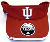 NCAA Indiana University Official Team Velcro Strap Adidas Visor - W217Z
