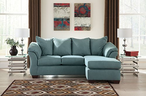 Signature Design by Ashley Darcy Chaise Sofa, Sky