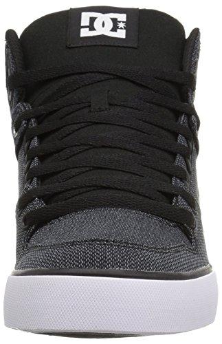 DC Shoes Spartan Hi Wc T M - Zapatillas de cuero para hombre Black Dark Used