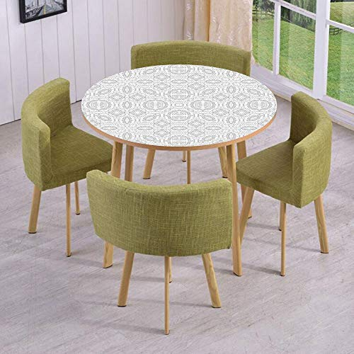 Round Table/Wall/Floor Decal Strikers/Removable/Lace Victorian Damask Antique Baroque Design with Oriental Effects Renaissance Art/for Living Room/Kitchens/Office Decoration