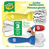Crayola My First Textured Paint Brushes,  Washable, for Girls and Boys, Gift for Boys and Girls, Kids, Ages 3, 4, 5,6 and Up, Holiday Gifting, Stocking Stuffers, Arts and Crafts
