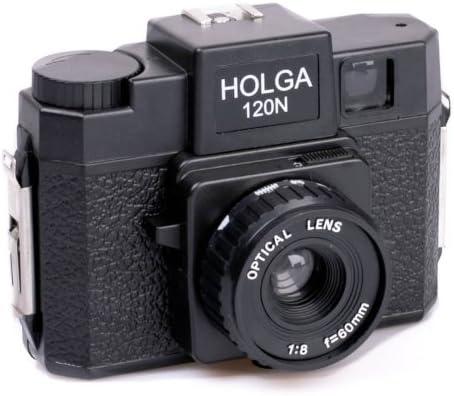 Holga 120N - Cámara analógica (objetivo f/8 de 60 mm, plástico ...