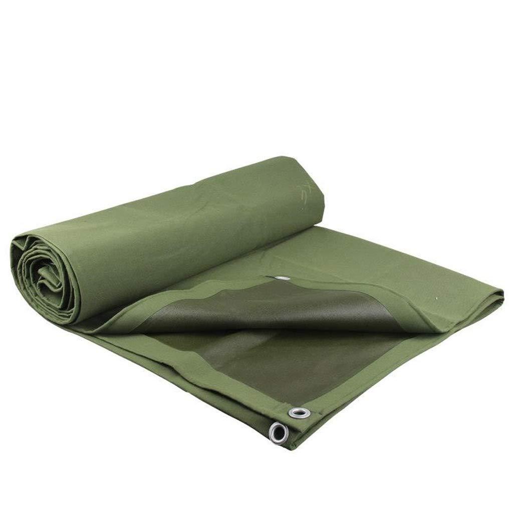 レインコートクロス、グリーン厚手キャンバスアウトドアレインシェードクロス B07JNLDFVZ 2*2m