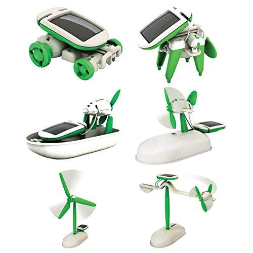Bhbuy 6 in 1 DIY Toys Education Learning Power Solar Robot Kit Children Christmas Gift - Six In One Solar Robot Kit