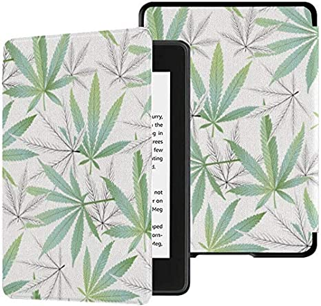 Kindle Paperwhite Funda Impermeable Funda de cáñamo orgánico Natural para Kindle Paperwhite Funda con activación automática/Reposo Funda Kindle Paperwhite Funda de décima generación 2018