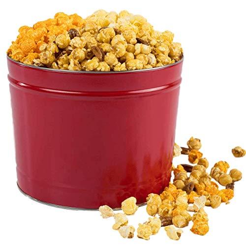 - Savannah Candy Kitchen | Gourmet Three Popcorn Gift Tin - Red