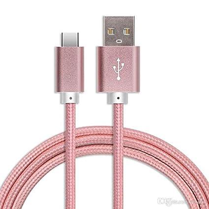 Digi Pig Cable USB tipo C, USB-A a C, nailon trenzado de carga rápida para Xiaomi Mi A1