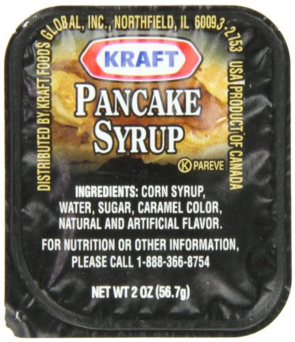 Kraft Table Syrup, 2 oz. pack, Pack of 80 by Kraft