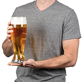 Oversized Extra Large Giant Beer Glass – 53oz – Holds up to 4 Bottles of Beers