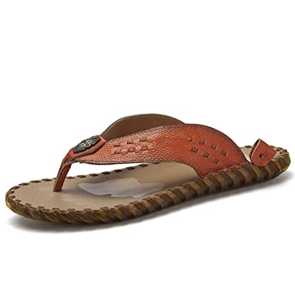 Sandalias Cuero De En Espiga Para Y Zapatillas HombresChanclas WIDE2H9Y