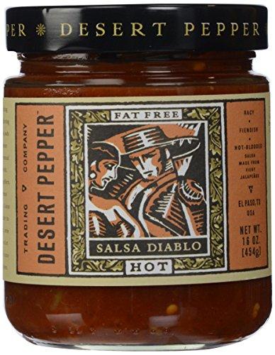 Desert Pepper, Salsa Diablo-Hot, 16 oz