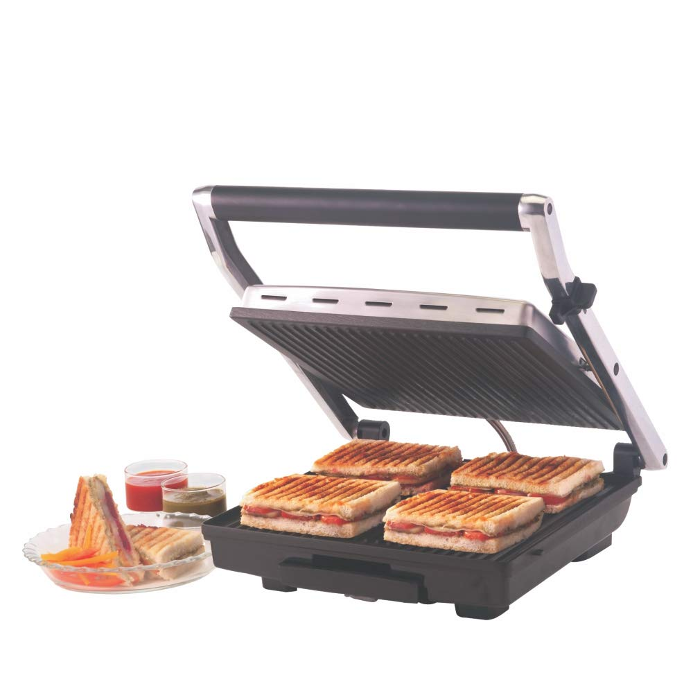 Borosil Super BGRILLSS23 2000-Watt 4 Slice Grill Sandwich Maker