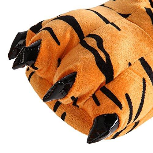 Tigre en Forme Pantoufles de Patte de de Tigre TOOGOO Chaussures de Chaudes Chambre Pantoufles Unisexes Patte L Chaudes Chaussures Moelleux d'hiver wqxfn8Bt