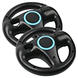 Eastvita® 2 X Black Steering Mario Kart Racing Wheel for Nintendo Wii Remote Game