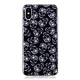 iPhone Xs/iPhone X Case, Lomogo Soft Silicone Case Shockproof Anti-Scratch Case Cover for Apple iPhone Xs/X –