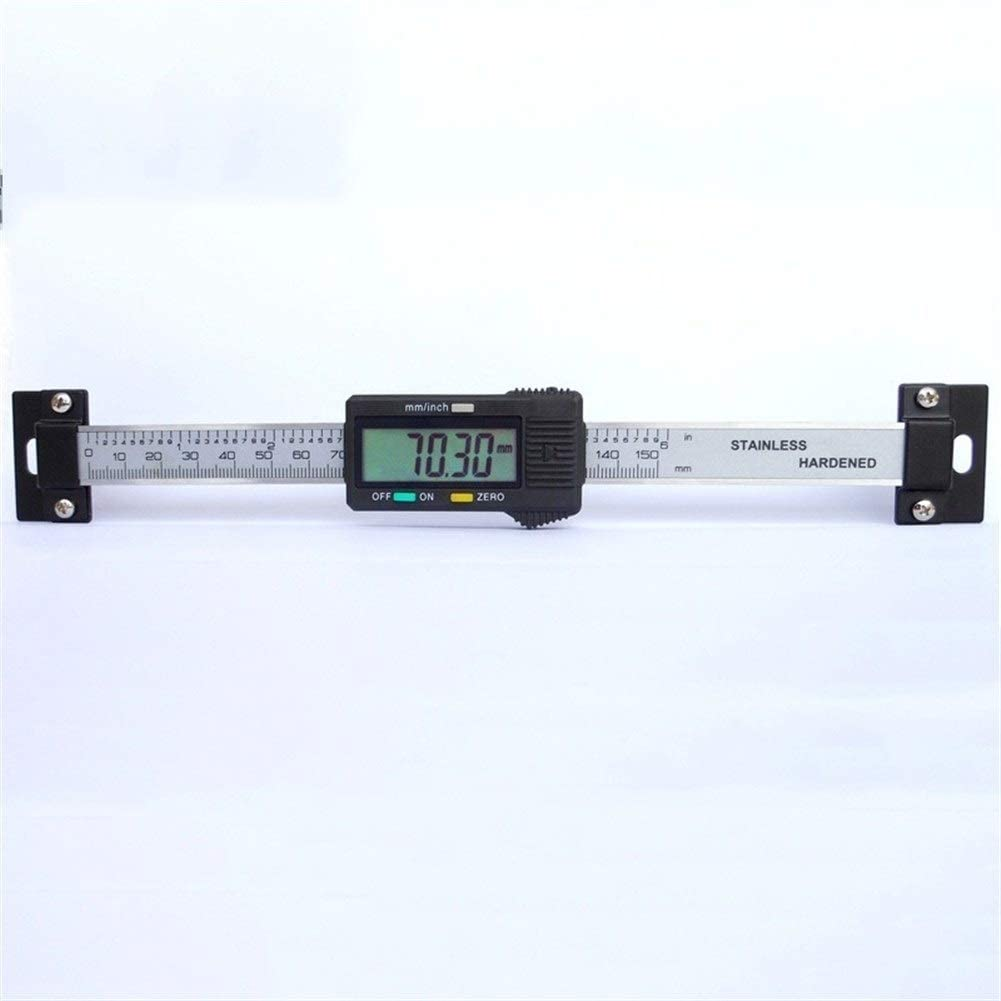 Measuring tools 150mm Vernier Caliper Stainless Steel Digital Horizontal Scale Units Horizontal Electronic LCD Display Inch/MM Machinist Tools (Color : 100mm) 200mm